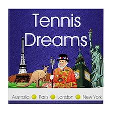 tennisdreamsapln1 Tile Coaster