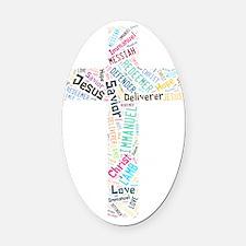 Names of Jesus Oval Car Magnet