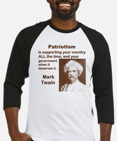 PATRIOTISM IS SUPPORTING YOUR COUN Baseball Jersey