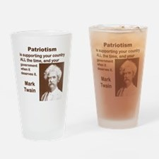 PATRIOTISM IS SUPPORTING YOUR COUNT Drinking Glass