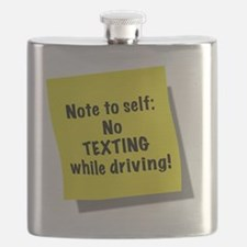 Note to self, No texting while driving, gift Flask
