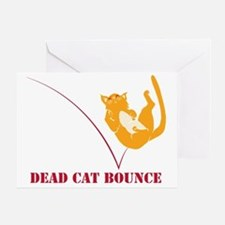 Dead Cat Bounce Greeting Card