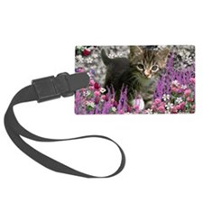 Emma Tabby Kitten in Flowers I Luggage Tag