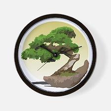 Bonsai Zen tree Wall Clock
