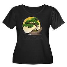 I'm Zen Women's Plus Size Dark Scoop Neck T-Shirt