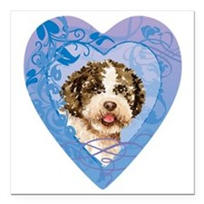 "lagotto-heart Square Car Magnet 3"" x 3"""