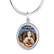 lagotto-kindle Silver Oval Necklace