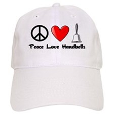 Peace, Love, Handbells Baseball Cap