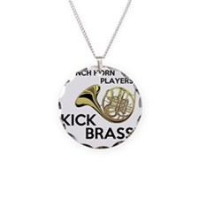 Horn Players Kick Brass Necklace