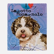 lagotto-ipad Throw Blanket