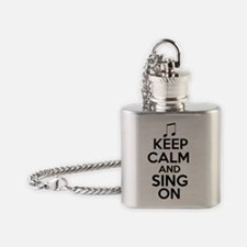 Keep Calm and Sing On Flask Necklace