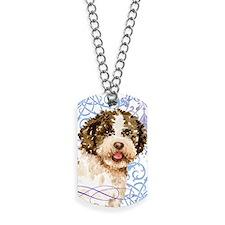 lagotto-key2 back Dog Tags