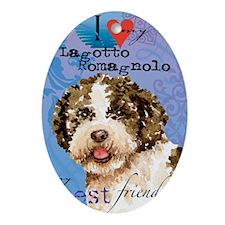 lagotto-key1 Oval Ornament