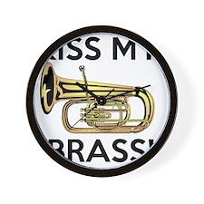 Kiss My Brass Tuba Wall Clock