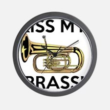 Kiss My Brass Tuba Wall Clock