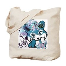 Blue Pembroke Welsh Corgi Manga Tote Bag