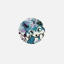 Blue Pembroke Welsh Corgi Manga Mini Button