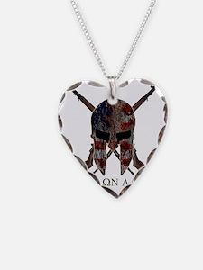 Molon Labe Crossed Guns Necklace