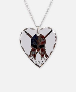 Molon Labe Crossed Guns Necklace Heart Charm