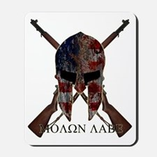 Molon Labe Crossed Guns Mousepad