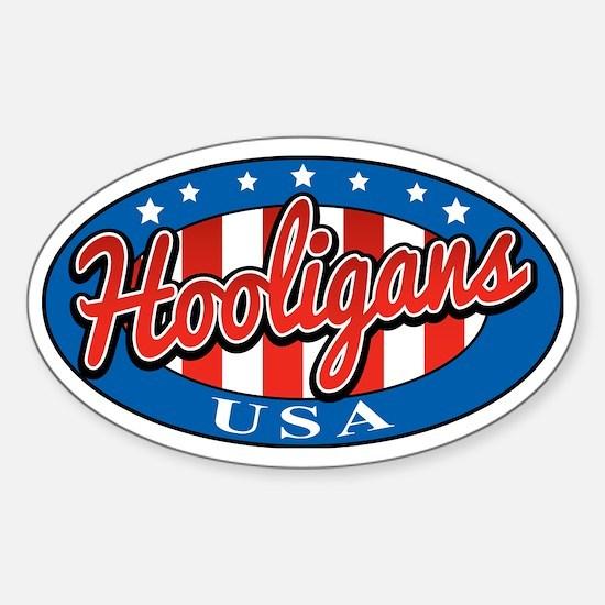 Hooligans USA Sticker (Oval)
