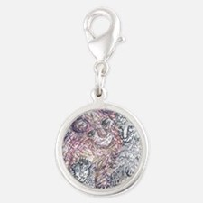 Hiding in the Dandelions Silver Round Charm