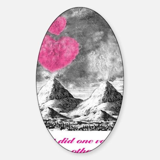 I Lava You Sticker (Oval)