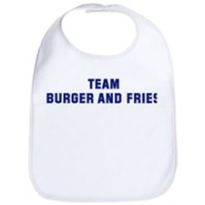 Team BURGER AND FRIES Bib