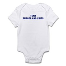 Team BURGER AND FRIES Infant Bodysuit