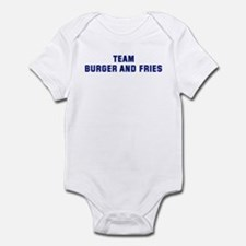 Team BURGER AND FRIES Infant Bodysuit