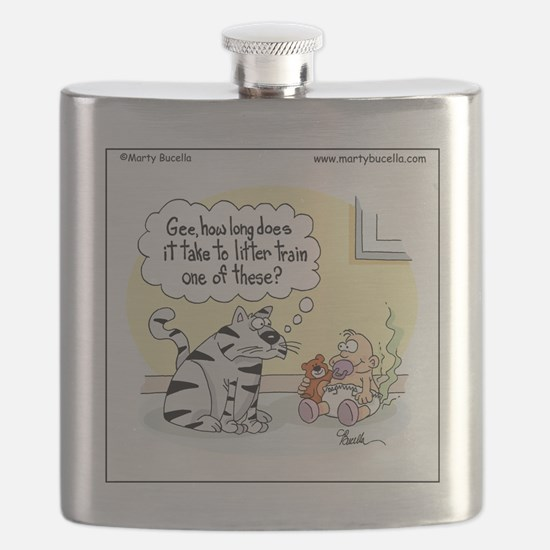 How long does it take to litter train a baby Flask