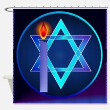 Sharp Star Of David - Light Shower Curtain