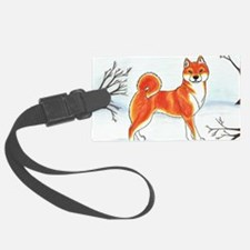 Shiba In The Snow Luggage Tag
