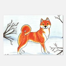 Shiba In The Snow Postcards (Package of 8)