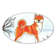 Shiba In The Snow Decal