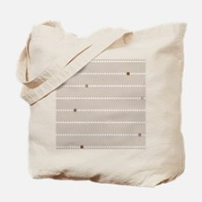 dotted stripes beige Tote Bag