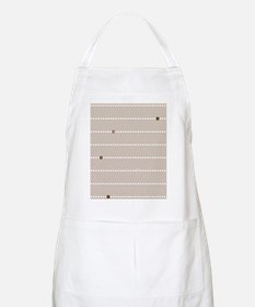 dotted stripes beige Apron