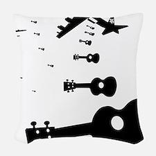 Uke Bombers Woven Throw Pillow