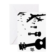 Uke Bombers Greeting Card