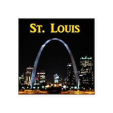 "St Louis Gateway Arch Square Sticker 3"" x 3"""