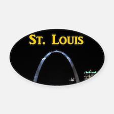 St Louis Gateway Arch Oval Car Magnet