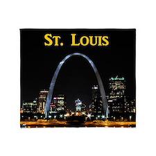 St Louis Gateway Arch Throw Blanket