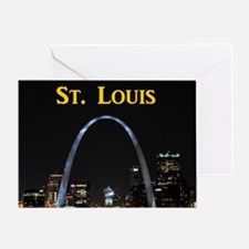 St Louis Gateway Arch Greeting Card