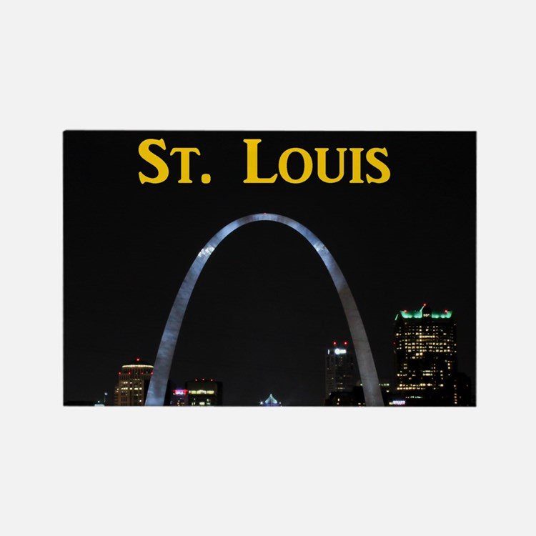 St Louis Gateway Arch Rectangle Magnet