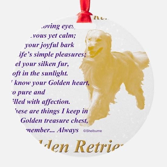 Golden Retriever To Remember Ornament
