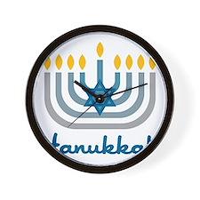 Hanukkah Wall Clock