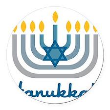 Hanukkah Round Car Magnet