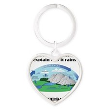 Why It Rains Heart Keychain