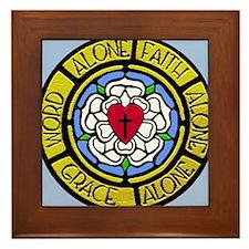 Grace Faith Word License Plate Framed Tile