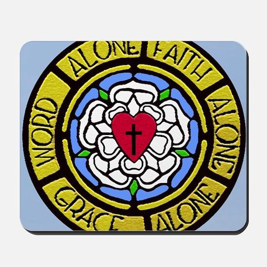 Grace Faith Word License Plate Mousepad